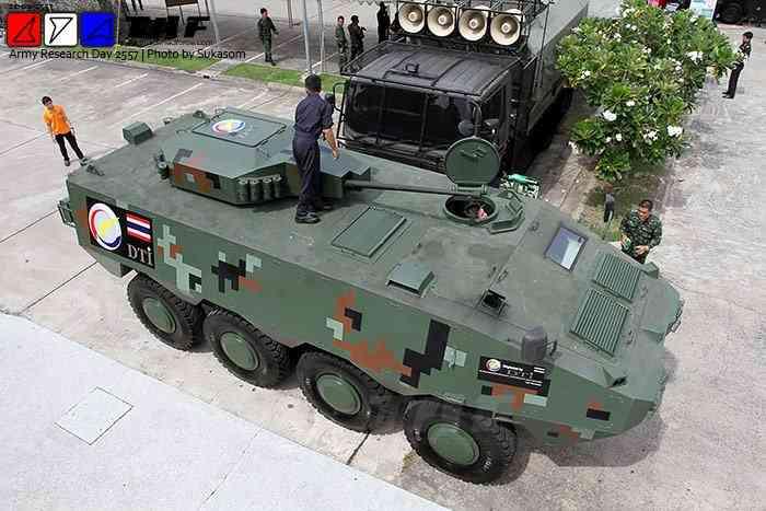 Первый прототип таиландского бронетранспортера Black Widow Spider