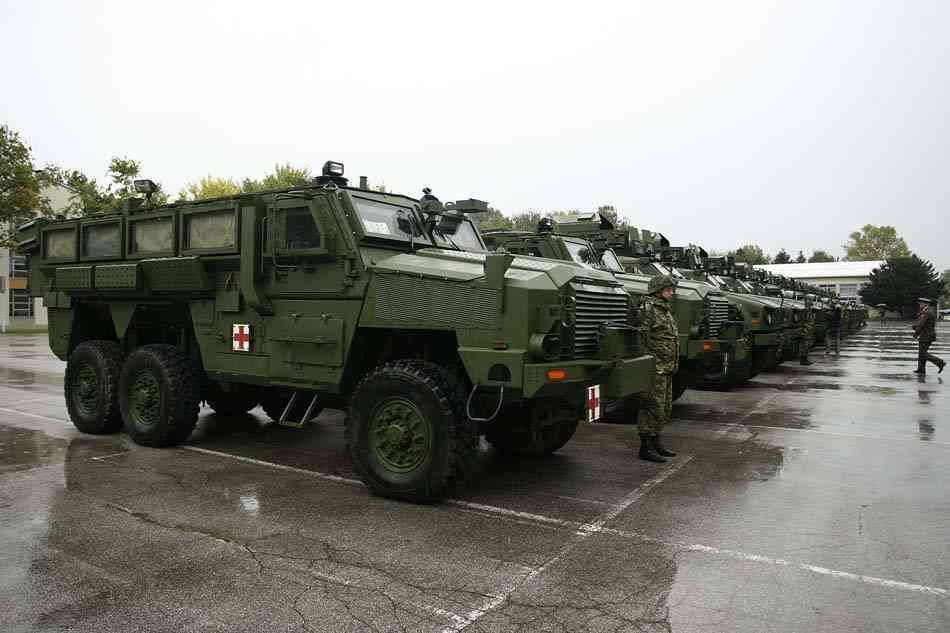 Вооруженные силы Хорватии получили б/у бронеавтомобили типа MRAP