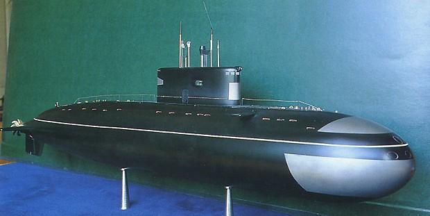 макет подводной лодки проекта 636