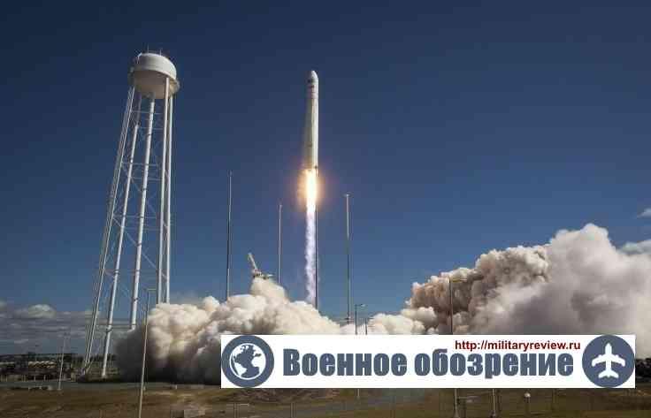 """Взрыв американской ракеты-носителя """"Антарес"""""""