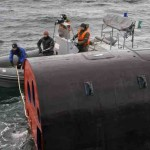 Учения по испытанию всплывающей спасательной камеры на подводной лодке Северодвинск