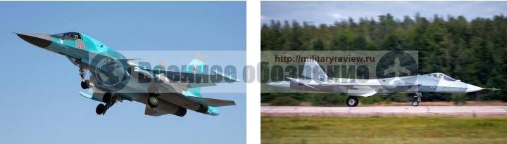 Бомбардировщик Су-34 и истребитель 5-го поколения ПАК ФА