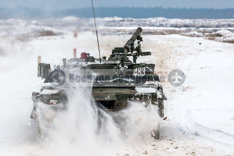 Танки Т-80У Кантемировской танковой дивизии