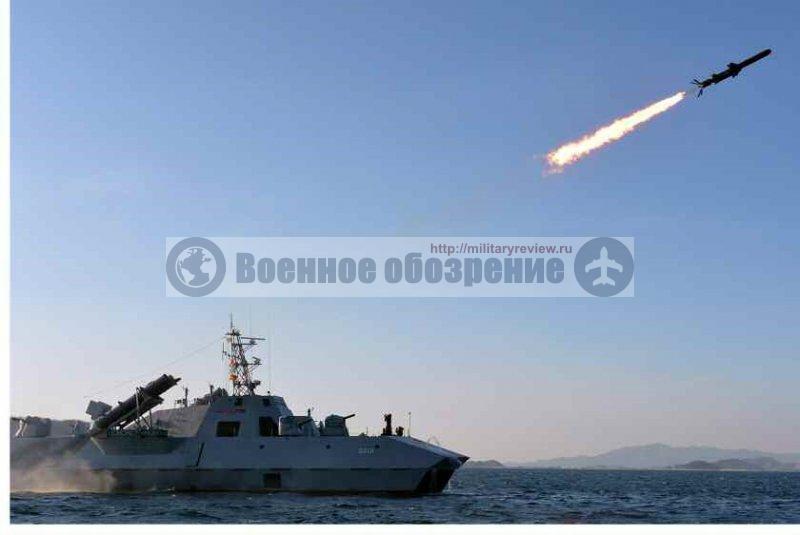 В КНДР произвели пуск новой ПКР с ракетного катера
