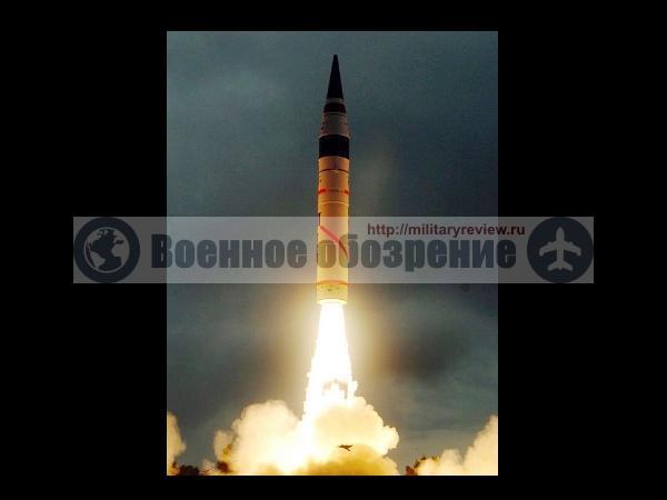 В Индии успешно испытана межконтинентальная ракета «Агни-5»
