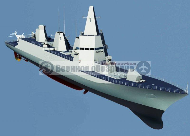 Раннее изображение Type 055