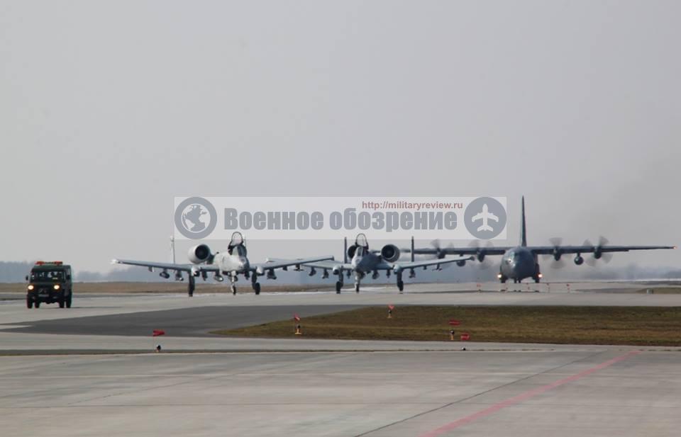 В Польшу переброшено звено американских штурмовиков A-10