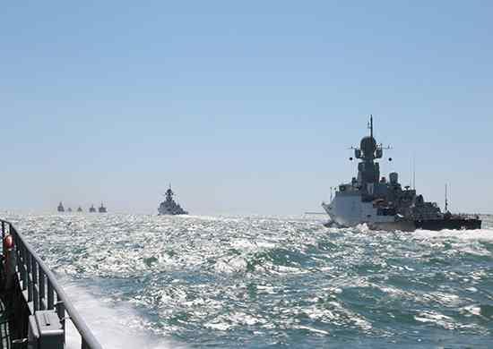 Каспийская флотилия принимает участие в учениях Центрального военного округа
