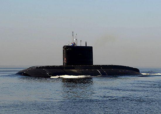Подводная лодка Новороссийск впервые участвует в учениях, проходящих на Чёрном море