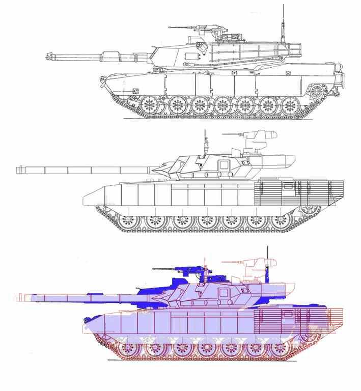 Армата и Абрамс (Т-14 vs. М1А2)