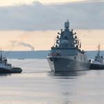 Фрегат Адмирал Горшков прибыл в Северодвинск