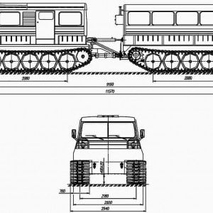 Вездеход ТТМ-4902ПС-10
