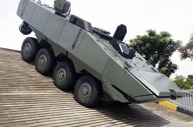 В Сингапуре разработали дополнительные гусеницы для бронетранспортера Terrex