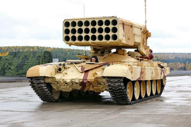 Ирак освоит тяжелые огнеметные системы ТОС-1А на шасси танка Т-90