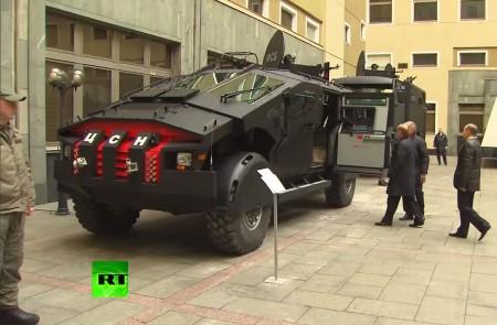 В ФСБ России показали Путину бронемашины спец назначения