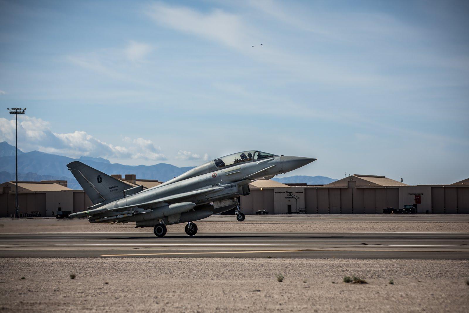 Италия рассчитывает на экспортные контракты после участия Eurofighter Typhoon в учениях Red Flag 2016