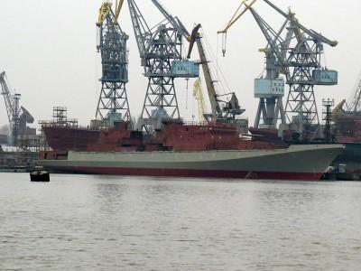В России спущен на воду новый фрегат Адмирал Бутаков