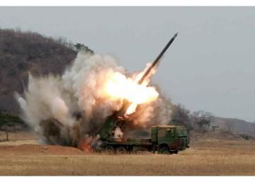 В Северной Кореи показали кадры с испытаний новейшей залповой системы KN-09
