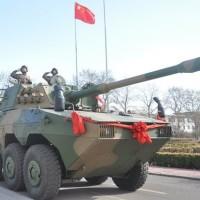 Армия Китая получила на вооружение новую партию колесных танков ZTL-09
