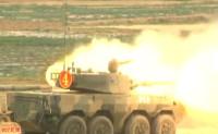 Китайская машина огневой поддержки ZTL-09 уничтожила танк