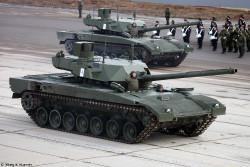Министерством обороны России заключен контракт на закупку 100 танков на платформе «Армата»