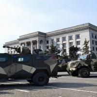 В Одессу прибыла дополнительная бронетехника с боевыми подразделениями Нацгвардии