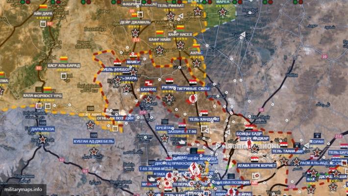 Сирийские сводки: взятие Хандарата, горящие танки ИГ под Раккой, бои у Дейр-Эз-Зоя